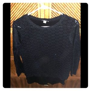 Lucky brand lace sweater